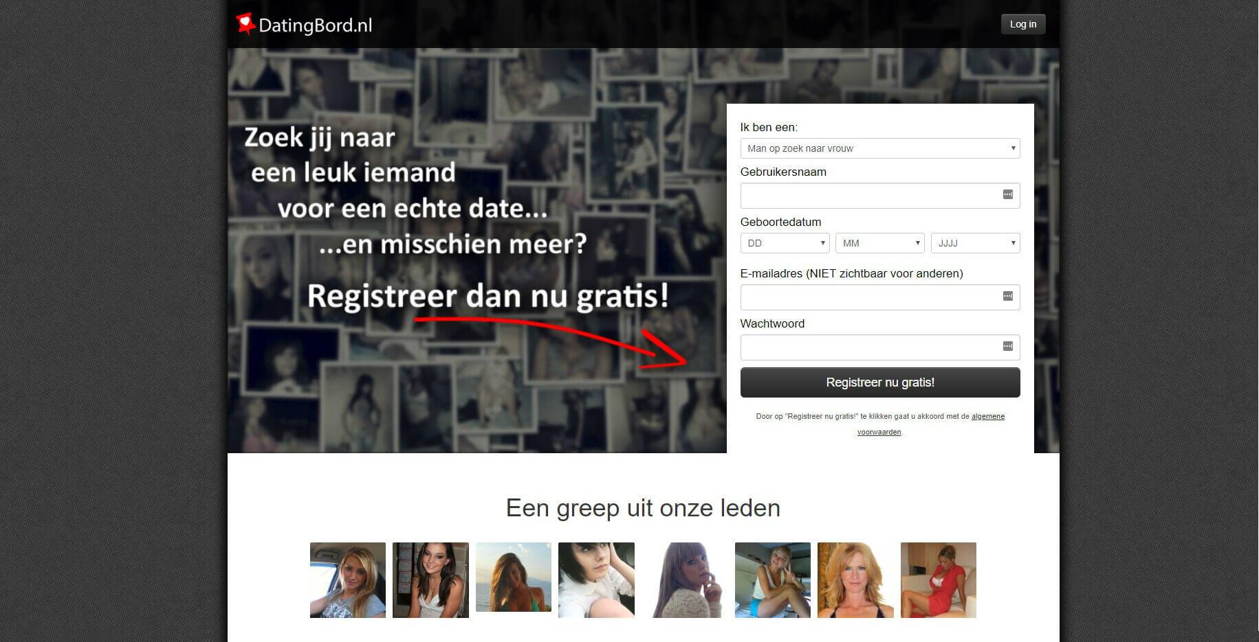 datingbord.nl registreer gratis