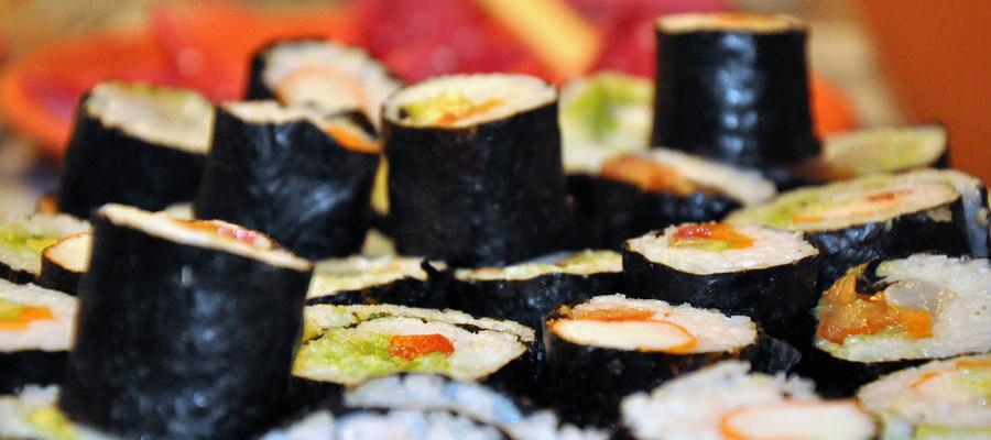 sushi femme nue